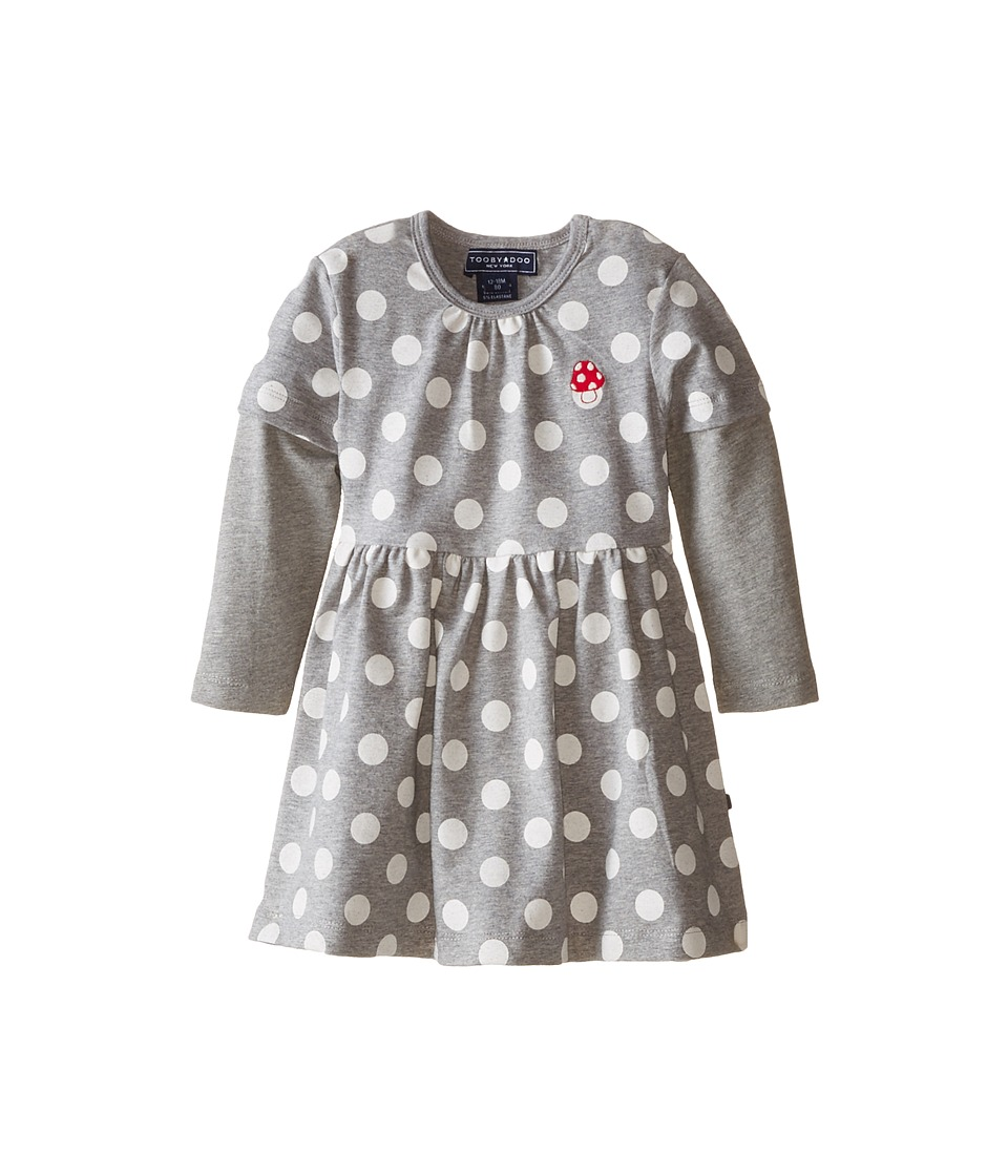 Toobydoo - The Fairy Play Dress (Infant/Toddler/Little Kids) (Grey/White) Girl's Dress