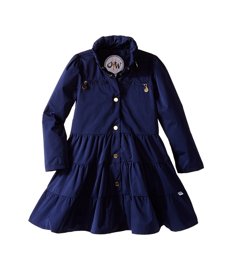 Oil & Water - Twirl Coat (Toddler/Little Kids/Big Kids) (Navy) Girl's Coat