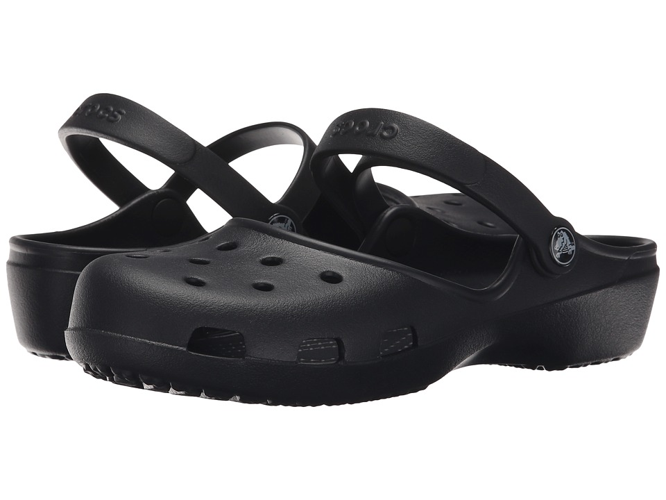 Crocs - Karin Clog (Black) Women's Clog Shoes
