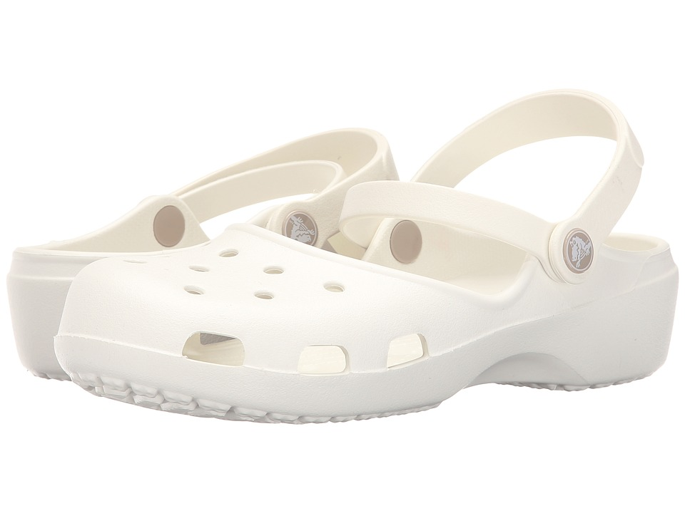 Crocs - Karin Clog (Oyster) Women's Clog Shoes