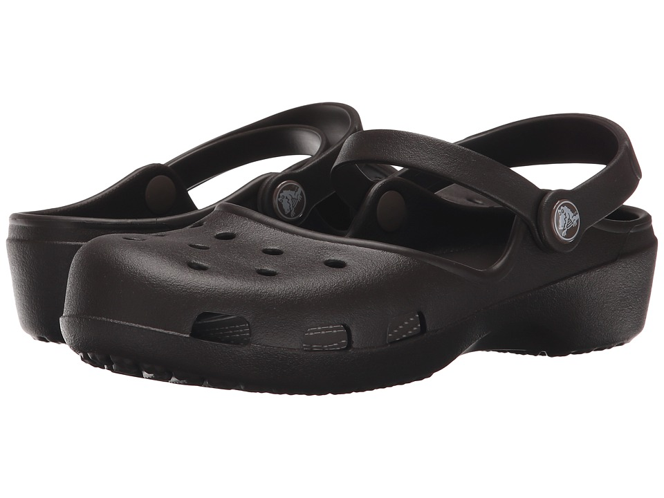 Crocs - Karin Clog (Espresso) Women's Clog Shoes