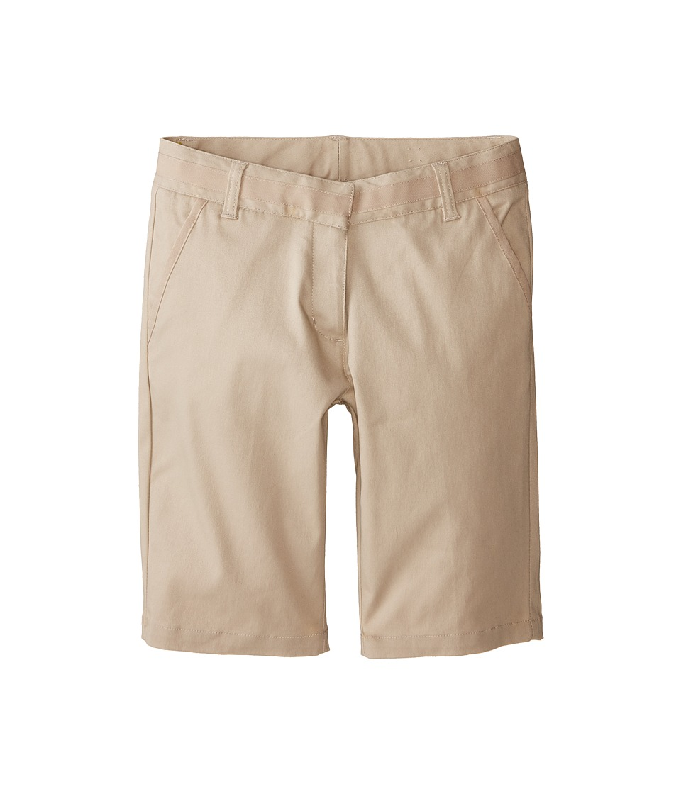 Nautica Kids - Skinny Bermuda Shorts with Adjustable Waistband (Big Kids) (Su Khaki) Girl's Shorts