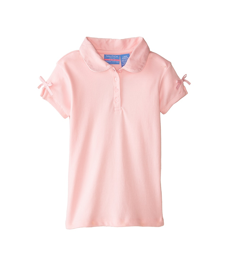 Nautica Kids - Polo with Ruffle Bow Sleeve (Little Kids) (Light Pink) Girl's Clothing