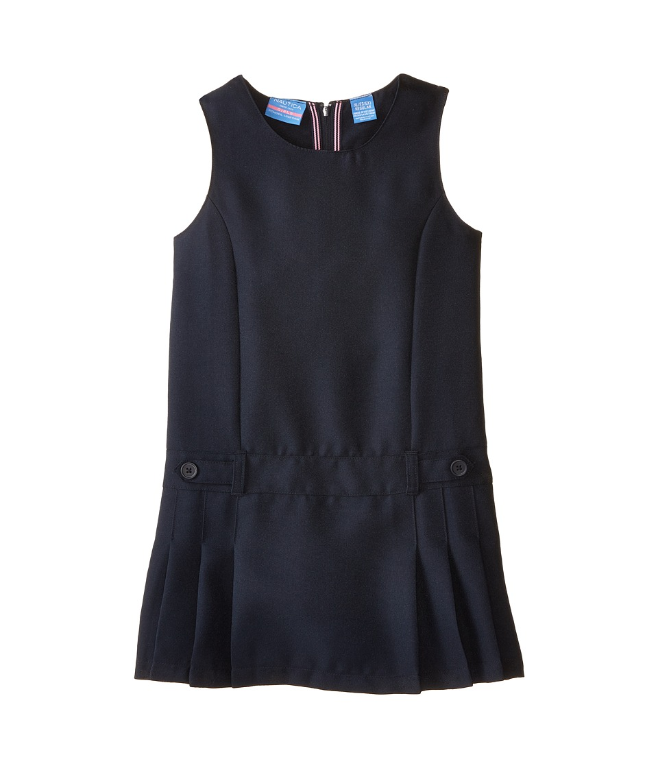 Nautica Kids - Poly Jumper with Waist Tabs (Little Kids) (Su Navy) Girl's Jumpsuit & Rompers One Piece