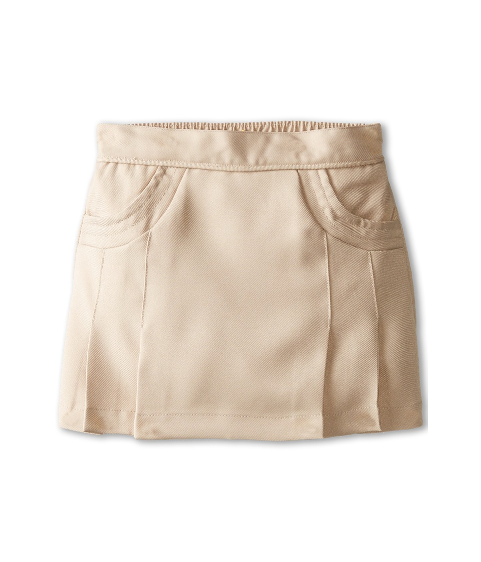 Nautica Kids - Poly Scooter/Skort with Scoop Pockets (Little Kids) (Su Khaki) Girl's Skort