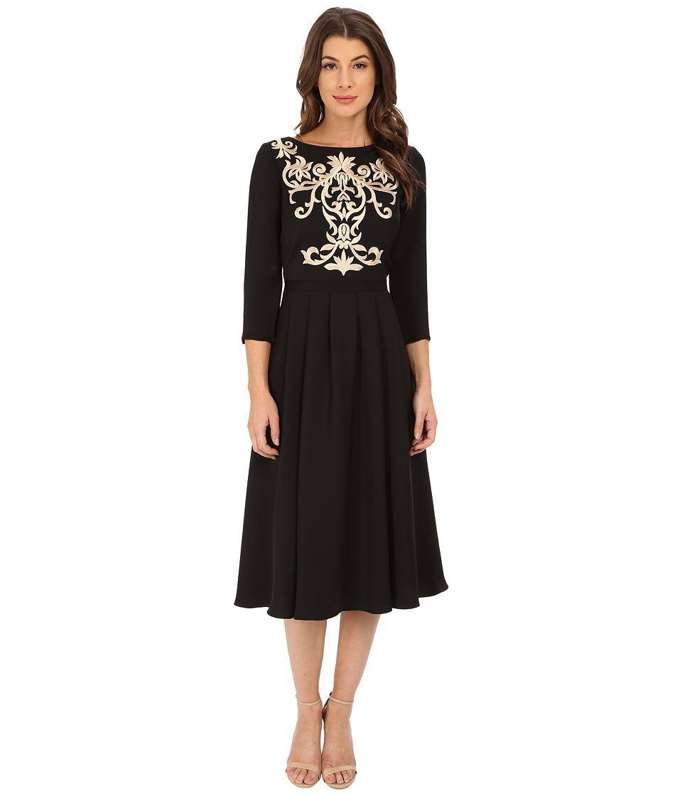 Ted Baker - Shamari Embroidered Bodice Dress (Black) Women's Dress