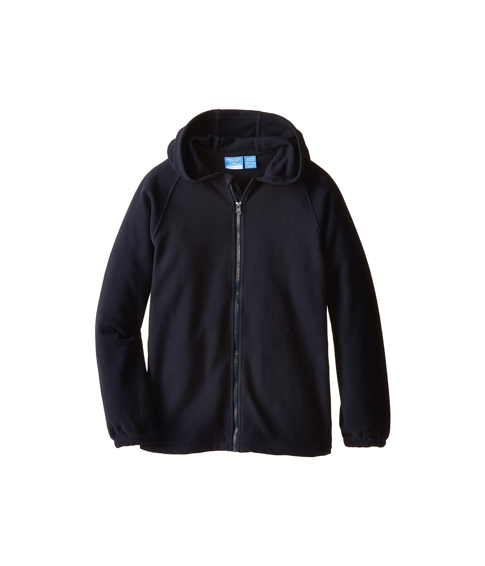 Nautica Kids - Fleece Hooded Jacket (Big Kids) (Navy) Boy's Coat