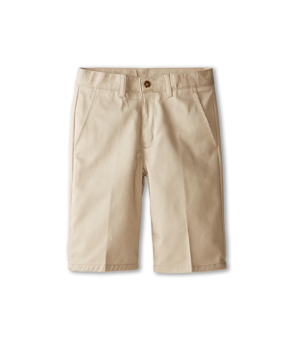 Nautica Kids - Flat Front Twill Shorts (Big Kids) (Khaki) Boy's Shorts