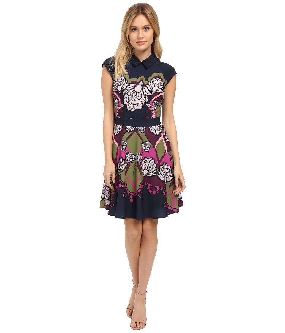 Ted Baker - Daywin Surreal Tapestry Skater Dress (Dark Blue) Women's Dress