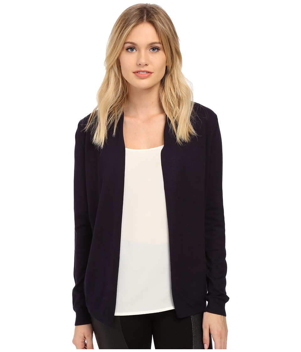 Ted Baker - Rienna Hydrangea Haze Woven Back Wrap (Dark Blue) Women's Long Sleeve Pullover