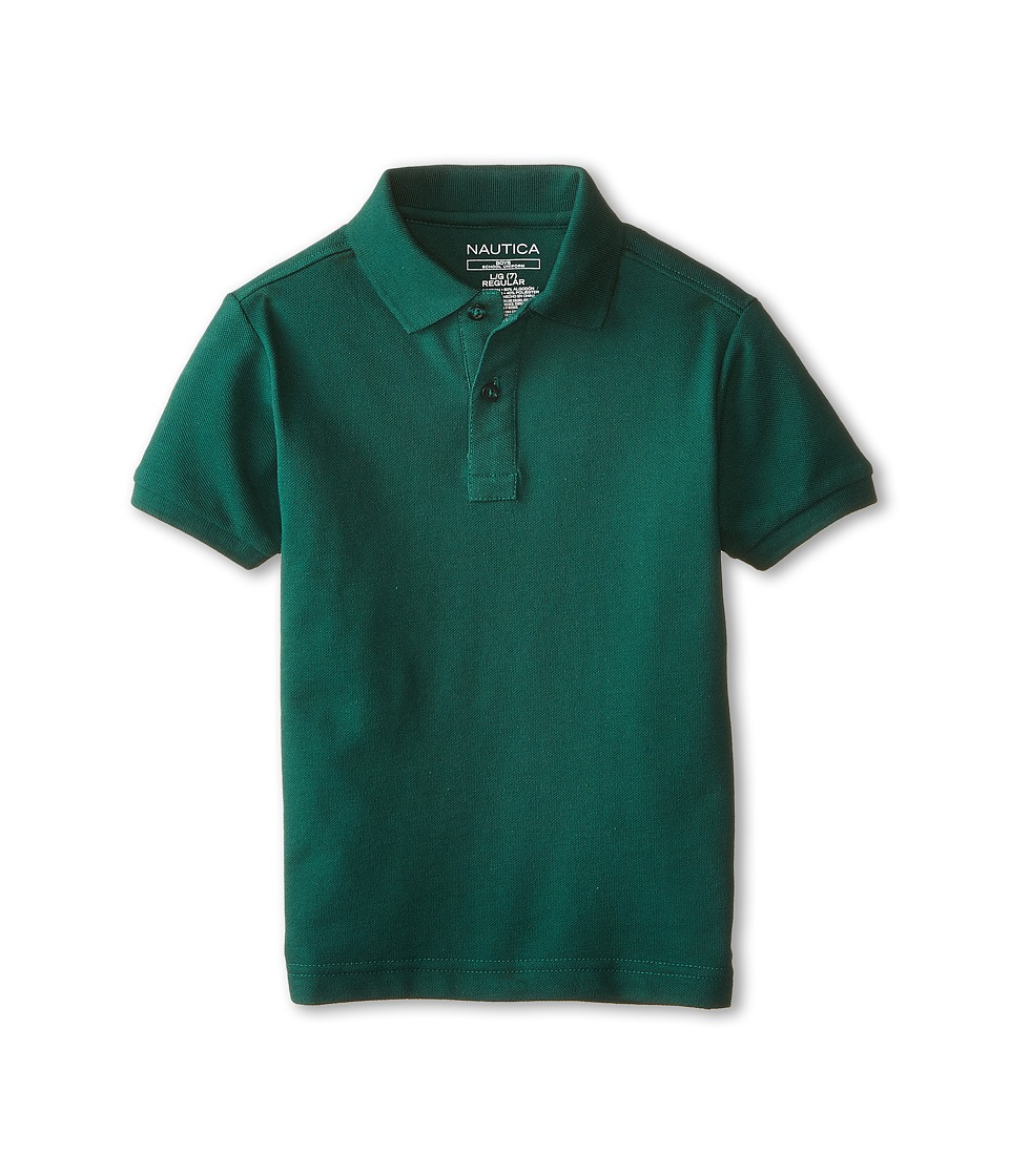 Nautica Kids - Short Sleeve Pique Polo (Little Kids) (Hunter) Boy's Short Sleeve Pullover