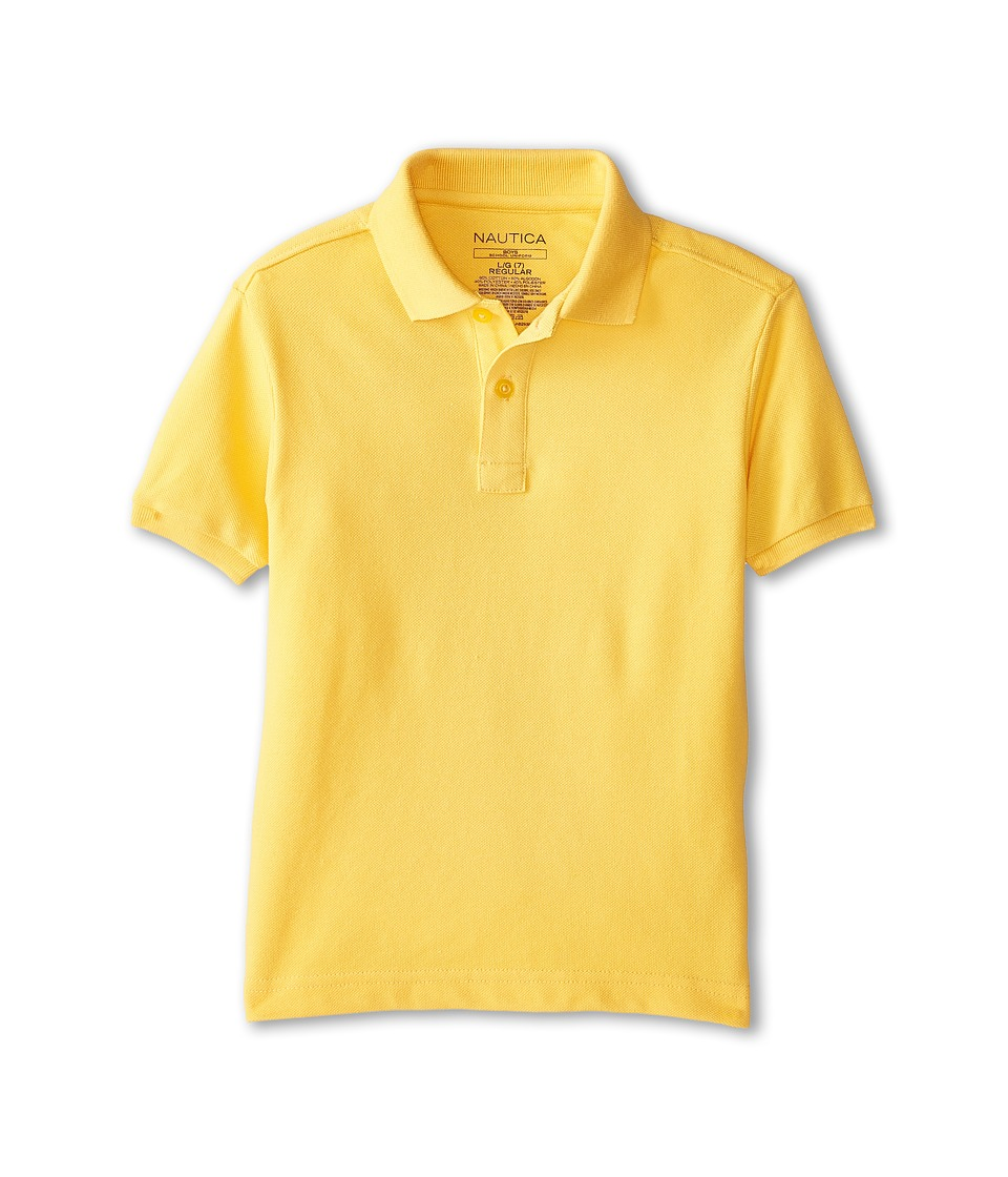Nautica Kids - Short Sleeve Pique Polo (Little Kids) (Gold) Boy's Short Sleeve Pullover