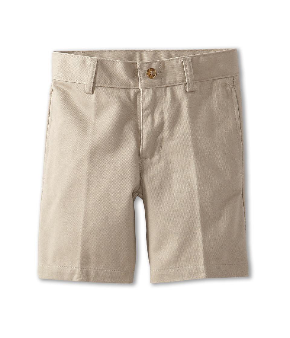 Nautica Kids - Flat Front Twill Shorts (Little Kids) (Khaki) Boy's Shorts