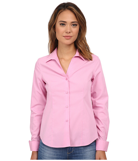Jones New York - Long Sleeve Easy Care Blouse (New Pink/Jwhite) Women