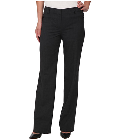 Jones New York - Flat Front Pants w/ Belt Loops (Alloy Heather) Women's Casual Pants