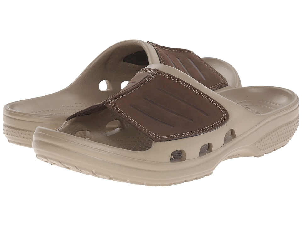 Crocs - Yukon Mesa Slide (Khaki/Espresso) Men's Slide Shoes