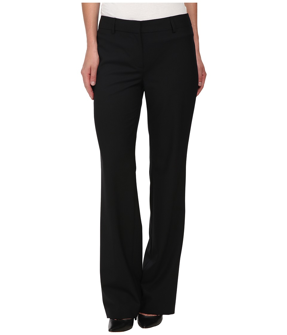 Jones New York - Washable Wool Flat Front Pants (J Black) Women's Casual Pants