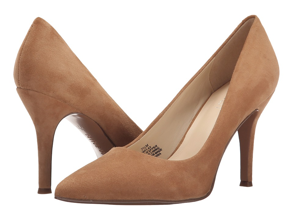 Nine West - Flax (Natural Suede) High Heels