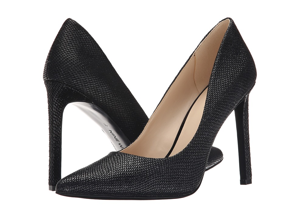 Nine West - Tatiana (Black Reptile) High Heels