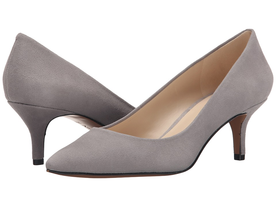 Nine West - Xeena (Grey Suede) Women's 1-2 inch heel Shoes