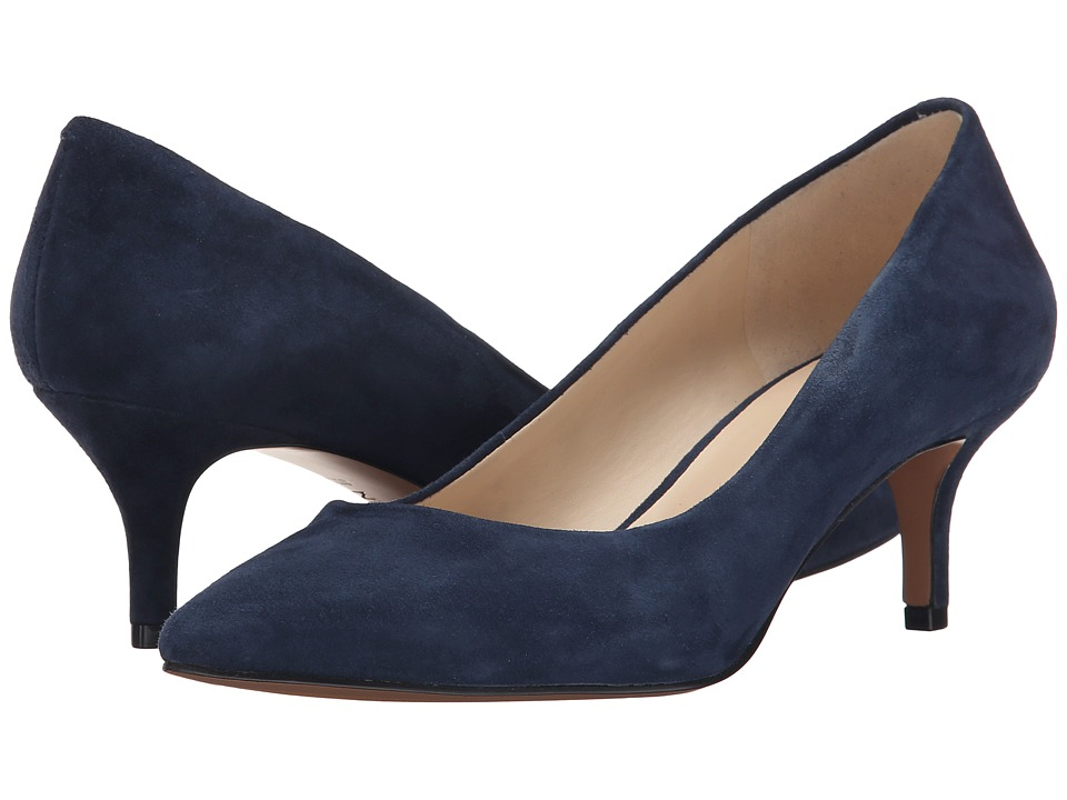 Nine West - Xeena (Navy Suede) Women's 1-2 inch heel Shoes