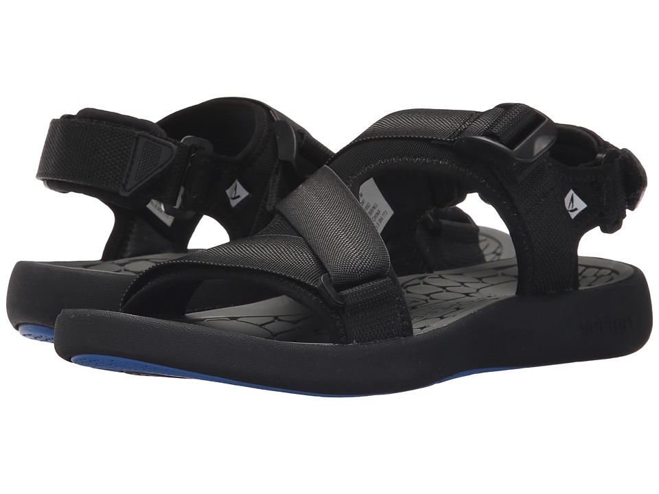 Sperry Big Eddy River Sandal (Black) Men