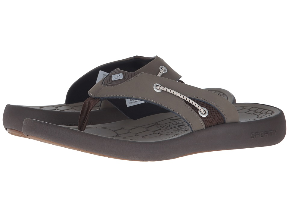 Sperry - Big Eddy Thong (Brown) Men's Toe Open Shoes