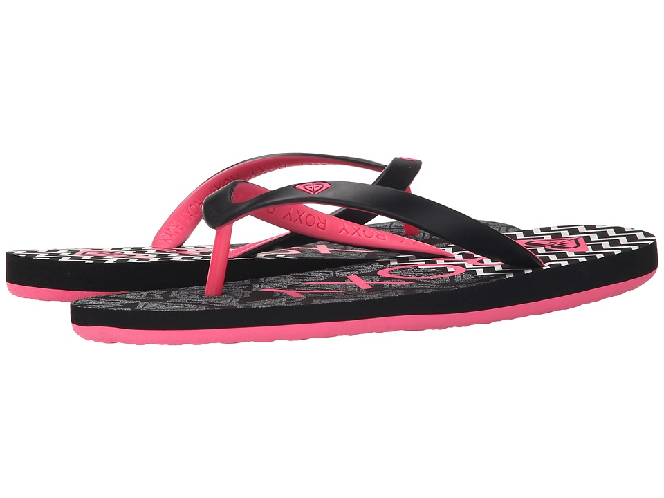Roxy - Tahiti (Black/Pink) Women's Sandals