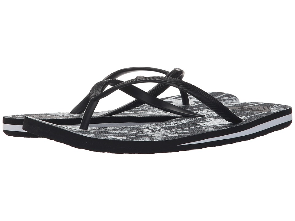 Roxy - Bermuda (Black/White Print) Women's Sandals