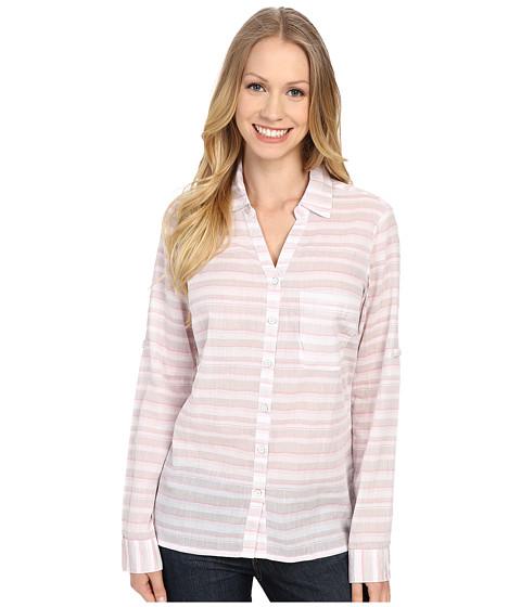 Columbia - Early Tide Long Sleeve Shirt (Flint Grey Stripe) Women's Long Sleeve Pullover