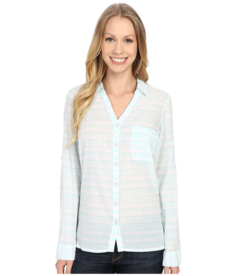 Columbia - Early Tide Long Sleeve Shirt (Ocean Water Stripe) Women's Long Sleeve Pullover