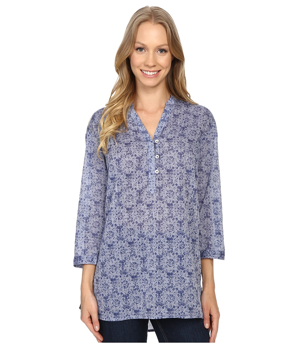 Columbia - Early Tide Tunic (Bluebell Floral Print) Women's Clothing
