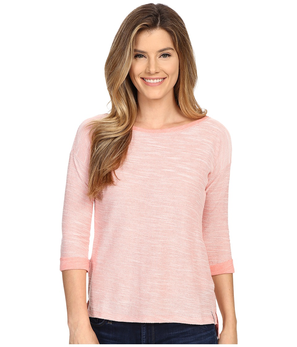 Columbia - Coastal Escape 3/4 Sleeve Shirt (Coral Bloom Heather) Women's Long Sleeve Pullover