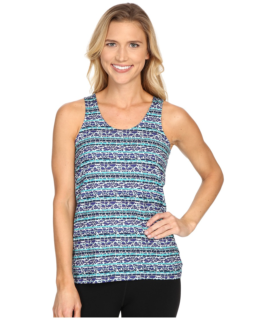 Columbia - Siren Splash Print Tank Top (Skyward Floral Stripe) Women's Sleeveless