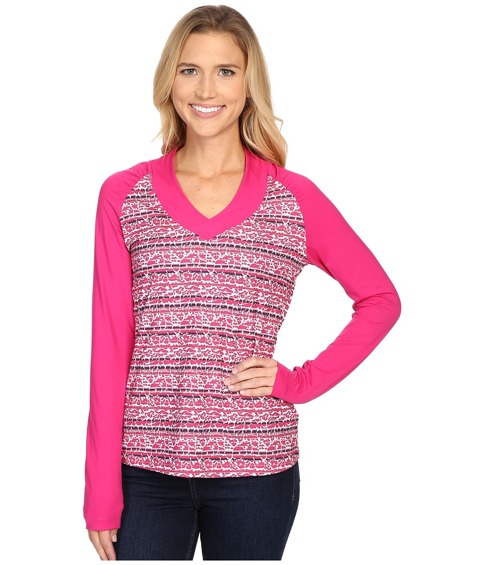 Columbia - Siren Splash Long Sleeve Shirt (Haute Pink Floral) Women's Long Sleeve Pullover