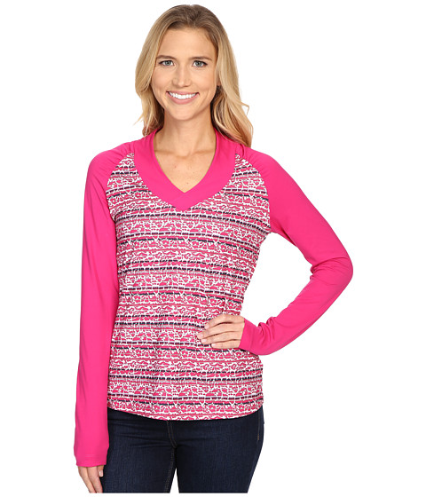 Columbia - Siren Splash Long Sleeve Shirt (Haute Pink Floral) Women