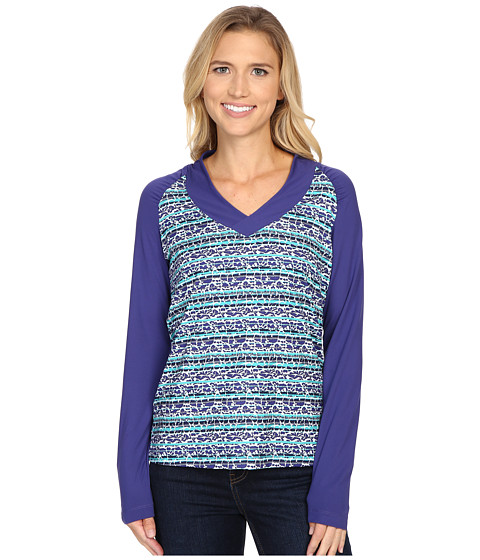 Columbia - Siren Splash Long Sleeve Shirt (Skyward Floral) Women's Long Sleeve Pullover