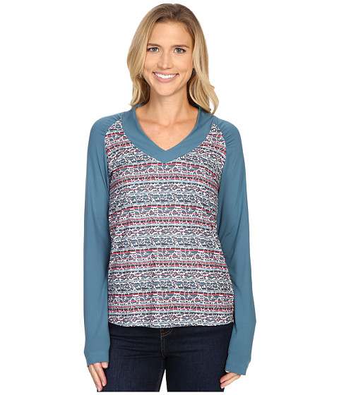Columbia - Siren Splash Long Sleeve Shirt (Stone Blue Floral) Women's Long Sleeve Pullover