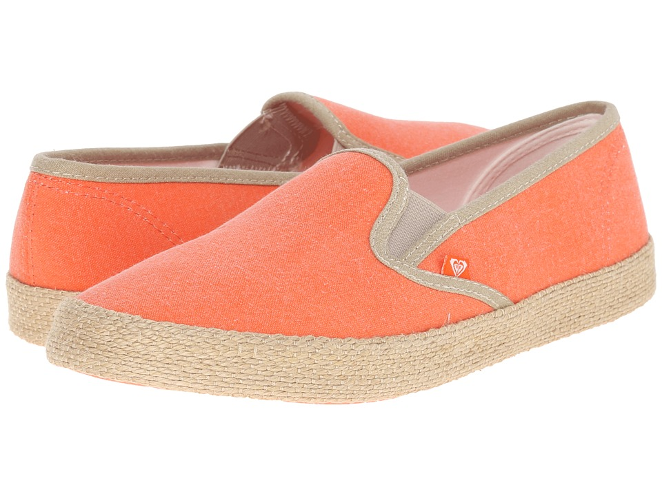 Roxy - Redondo Jute (Tangerine) Women's Slip on Shoes