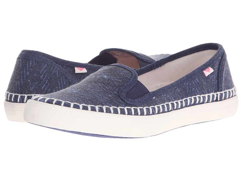 Roxy - Malibu Espadrille (Blue) Women's Slip on Shoes