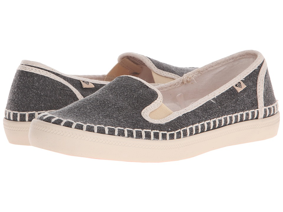 Roxy - Malibu Espadrille (Black) Women's Slip on Shoes