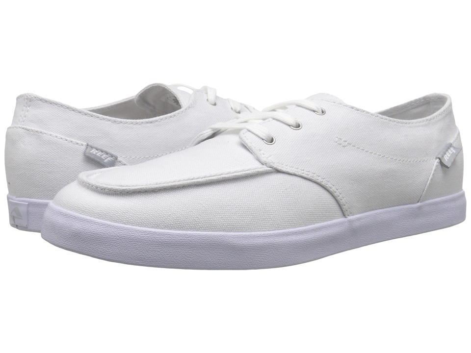 Reef - Deck Hand 2 (White/White) Men's Lace up casual Shoes