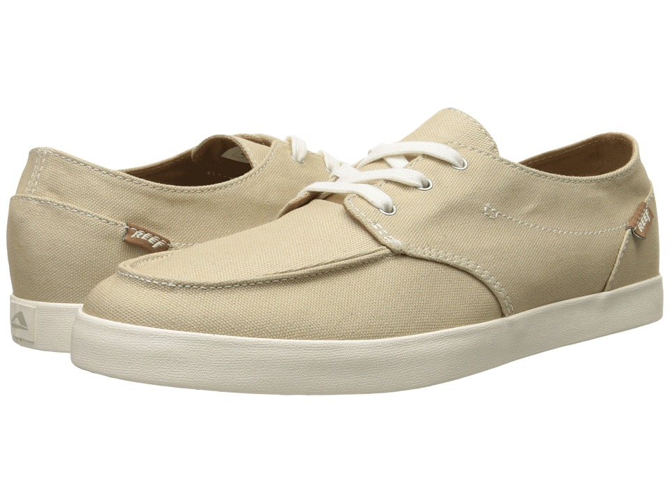 Reef - Deck Hand 2 (Tan/White) Men's Lace up casual Shoes