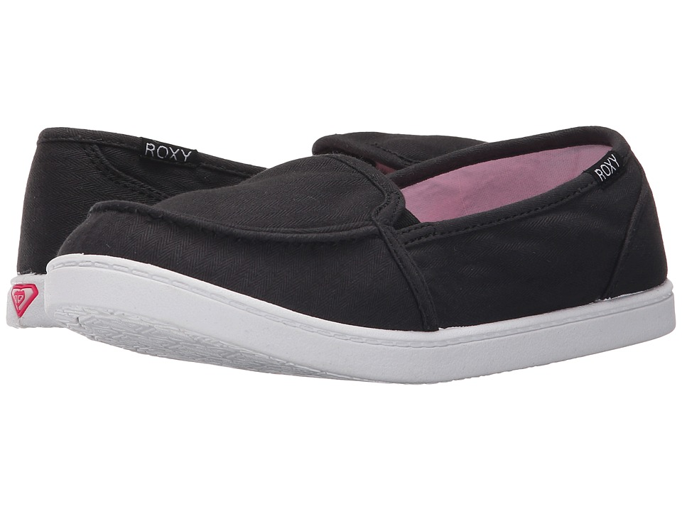 Roxy - Lido III (Black/Armor) Women's Slip on Shoes