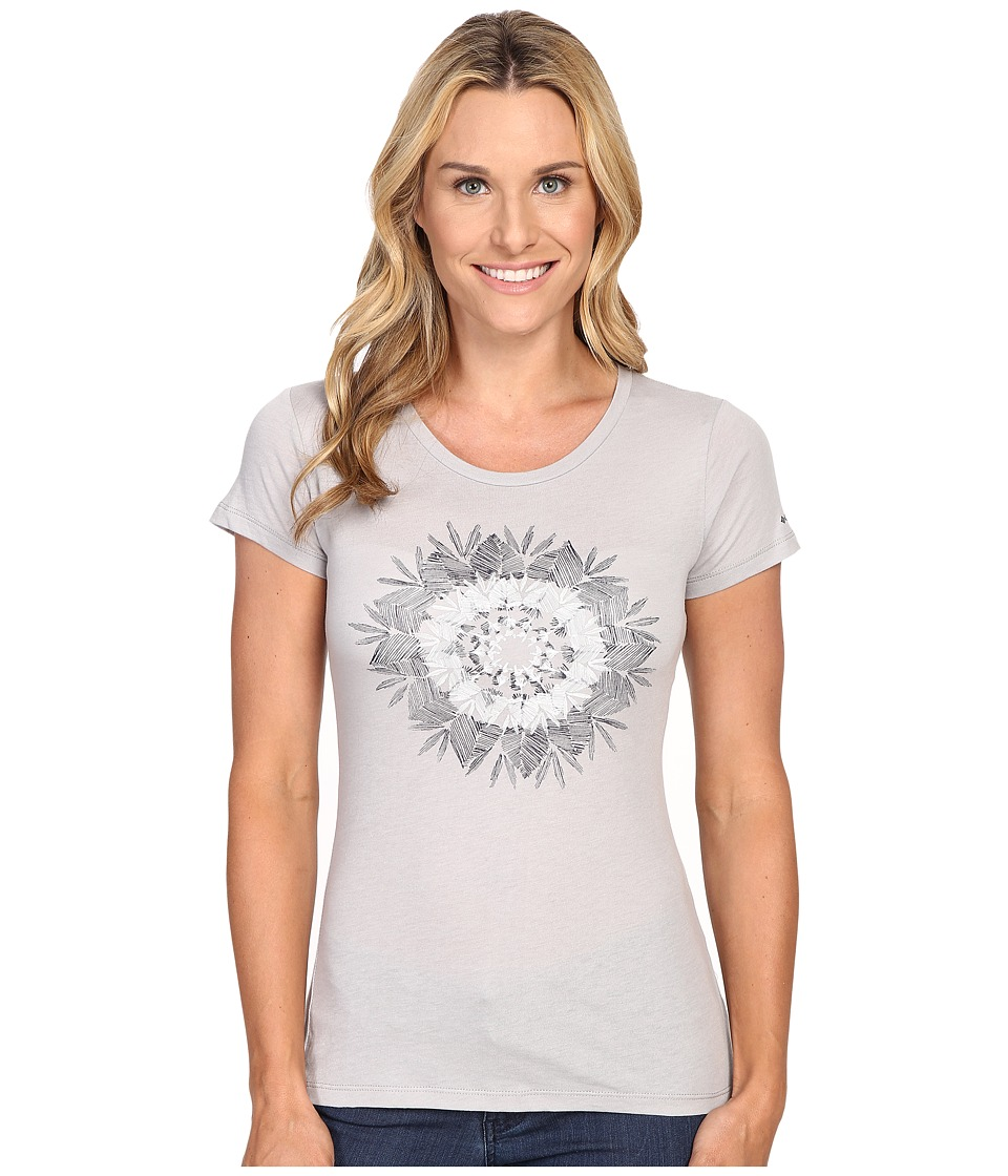 Columbia - Feather Medallion Short Sleeve Tee (Grey Heather) Women