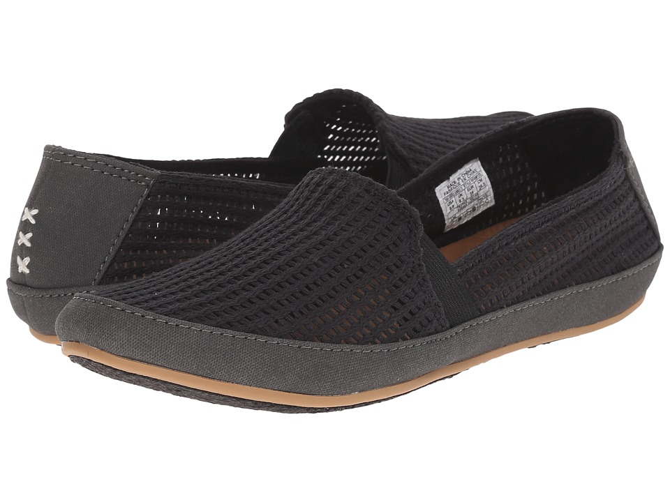 Reef - Shaded Summer TX (Black Mesh) Women's Flat Shoes