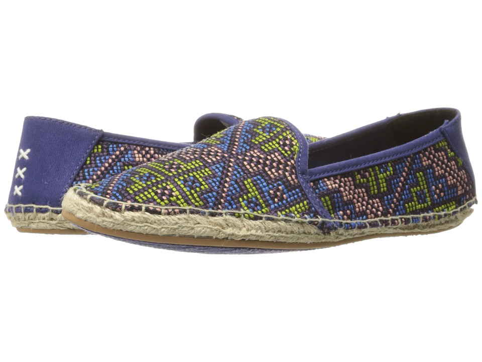 Reef - Shaded Summer ES (Blue Raffia) Women's Flat Shoes