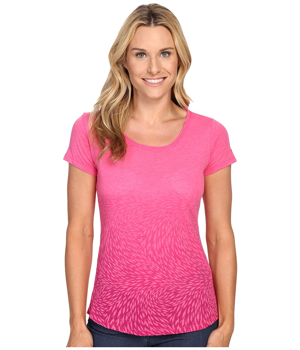 Columbia Ocean Fade Short Sleeve Tee (Ultra Pink Heather) Women