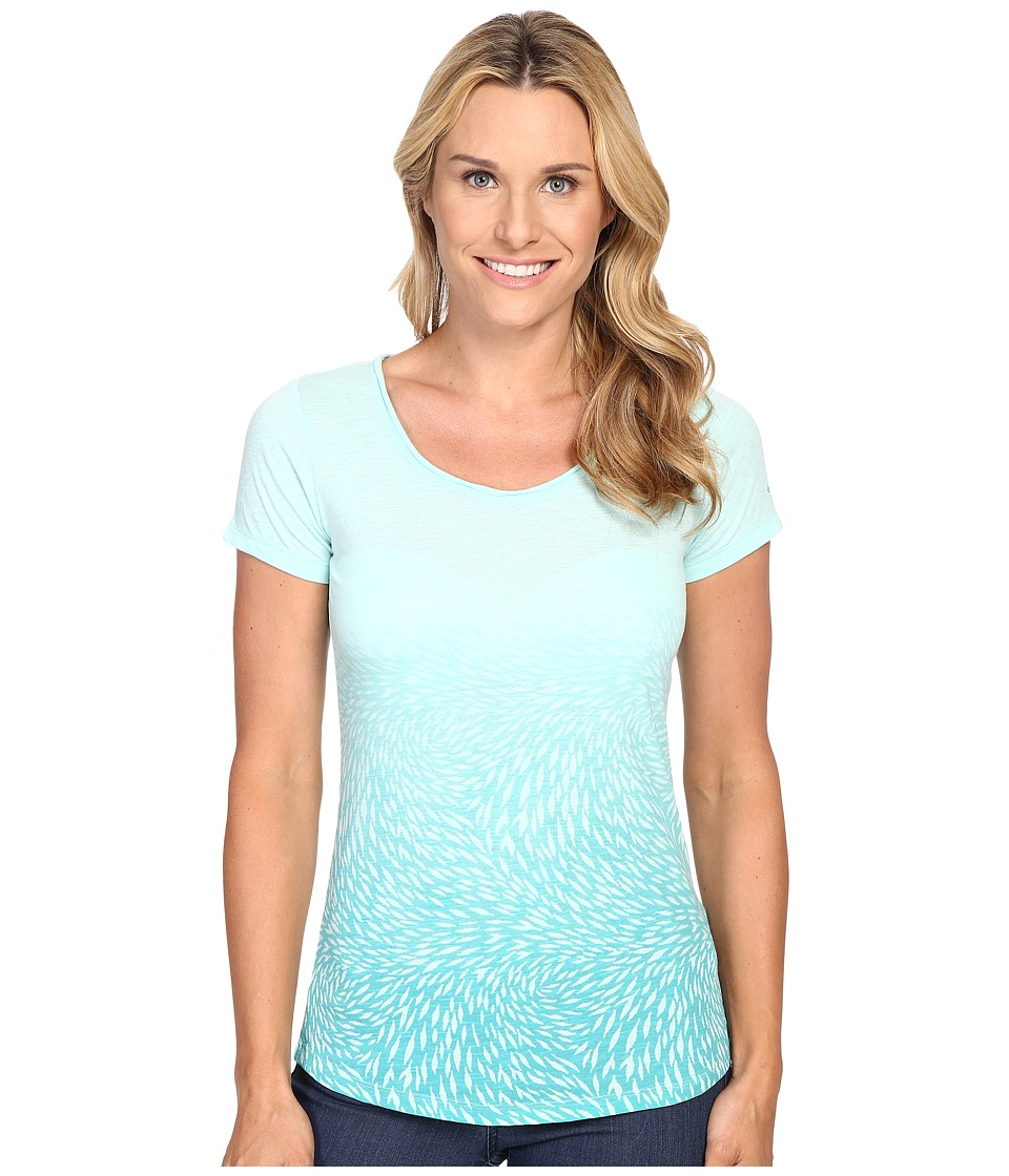 Columbia Ocean Fade Short Sleeve Tee (Ocean Water Heather) Women