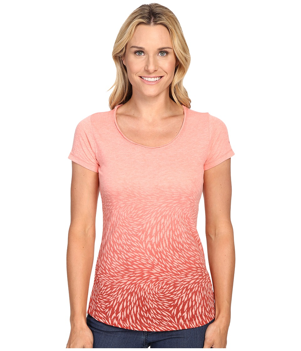 Columbia - Ocean Fade Short Sleeve Tee (Coral Bloom Heather) Women's T Shirt